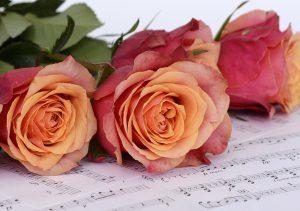 Rosen und Noten