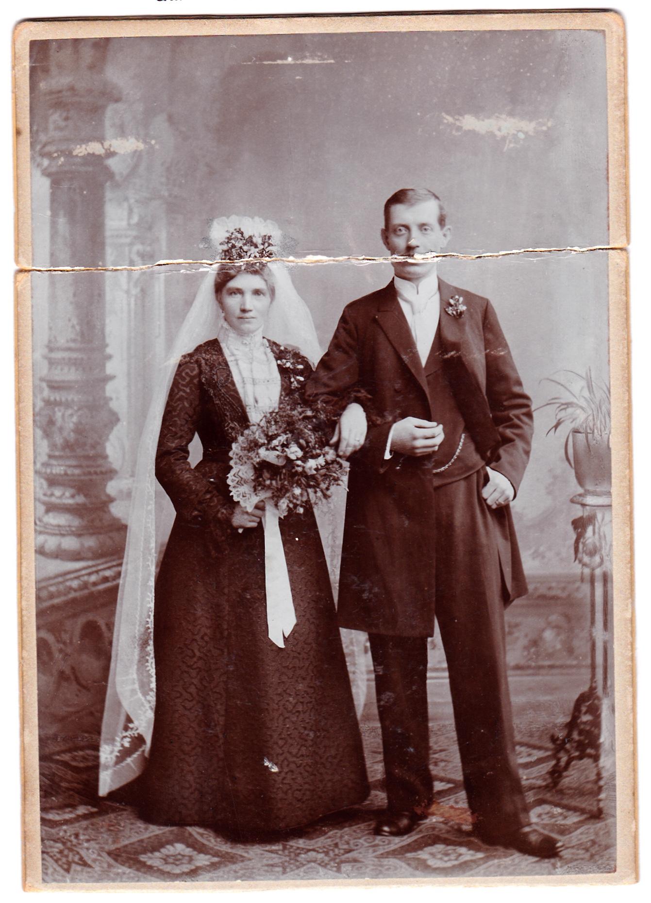 Hochzeit Johann Georg und Maria Willenbücher 1902