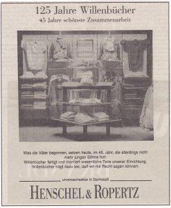 Jubiläum 125 Jahre - Anzeige H&R 1993