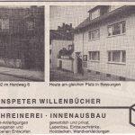 Anzeige Schreinerei und Bestattungen Willenbücher 1993
