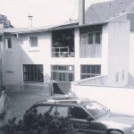 Blick in den Hof der Firma Willenbücher in Bessungen - 1990er