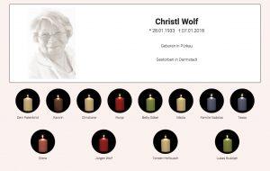 Gedenkseiten ChristelWolf