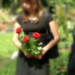 Beileid wünschen am Grab